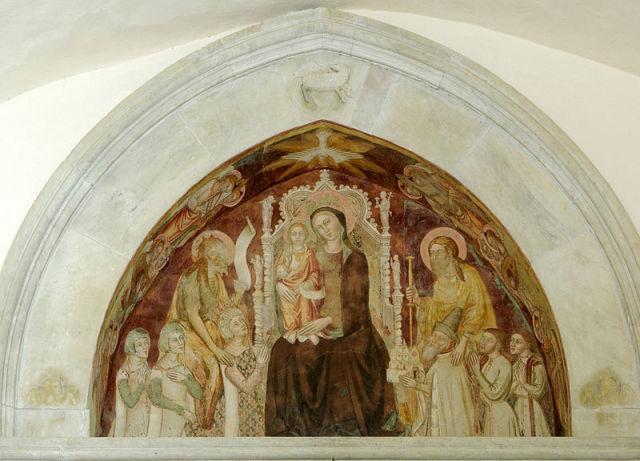 1397 ca St Bruno et la reine Jeanne D'anjou St Jacques avec Giocomo Arcucci Certosa di San Giacomo a Capri