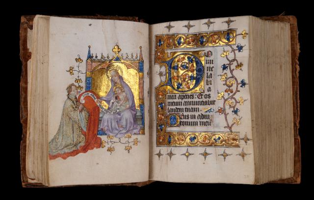 1400 ca Heures de Marguerite de Cleves MS L.A. 148 fol 19v-20r Musee Gulbenkian Lisbonne