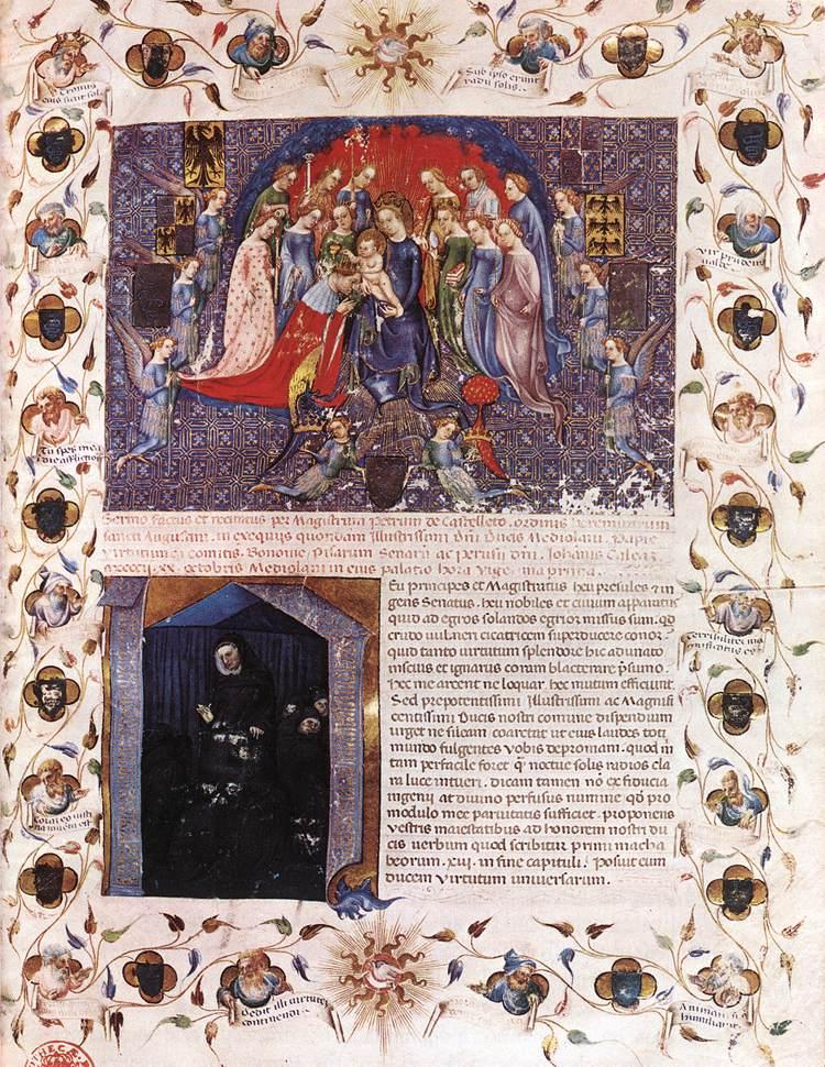 1402 Michelino da Besozzo - Elogio funebre di Gian Galeazzo Visconti par P. da Castelletto BNF Paris