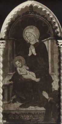1410-70 Michele di Matteo Madonna con Bambino in trono e donatrice Museo Davia Bargellini, Bologna