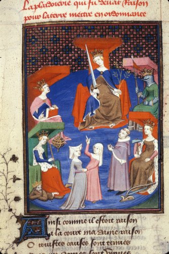 1410-c. 1414 Chemin de Longue Estude Harley 4431 f.196v La vision de Christine de Pisan British Library