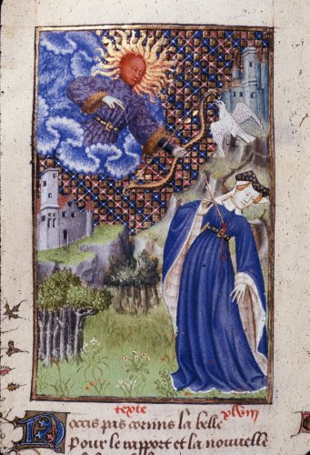 1410-c. 1414 Epitre Othea Harley 4431 f.117v Apollon British Library