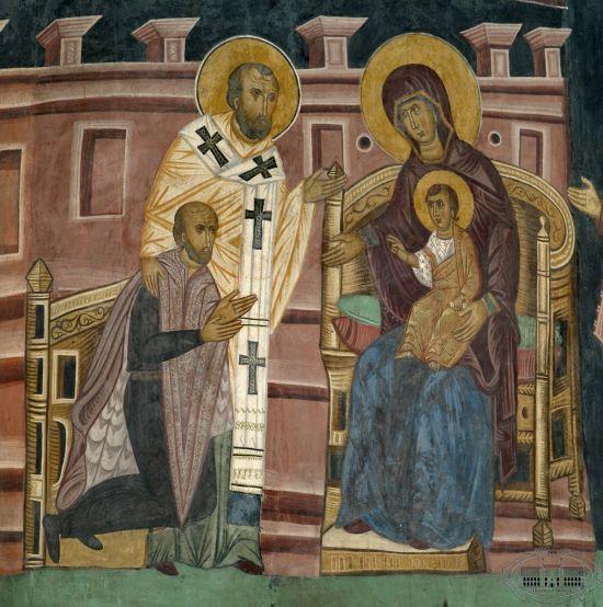 1418 Master_Andrey_Ladislaus_II_Jagiello_kneeling_before_the_Virgin_Mary Lublin Museum