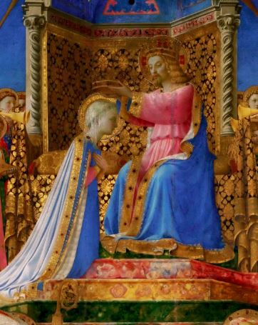 1430 Fra Angelico Couronnement Vierge Louvre detail