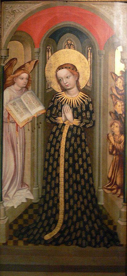 1430 ca Maitre du retable de Bamberg Maria im Ahrenkleid Bayerisches Nationalmuseum