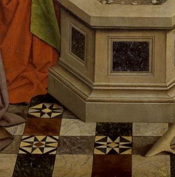 1432 Ecole de Van Eyck The Fountain of Life Prado Madrid detail