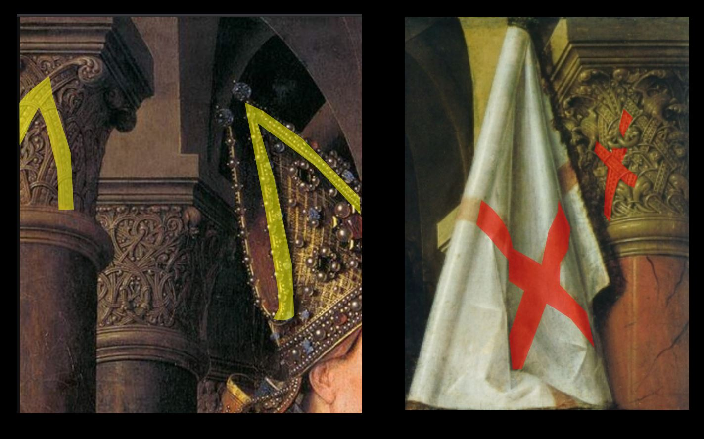 1434-36 Van Eyck La_Madone_au_Chanoine_Van_der_Paele Groeningemuseum, Bruges schema continuite 2