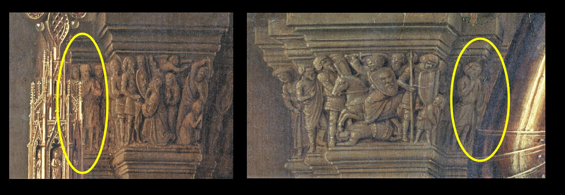 1434-36 Van Eyck La_Madone_au_Chanoine_Van_der_Paele Groeningemuseum, Bruges schema continuite
