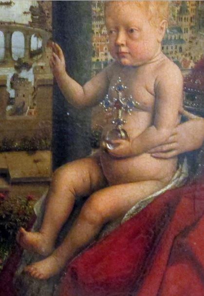 1435 Eyck_madonna_rolin Enfant