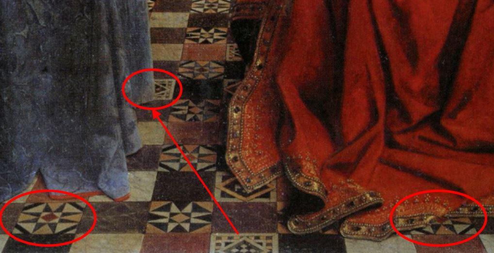 1435 Eyck_madonna_rolin carrelage anomalies