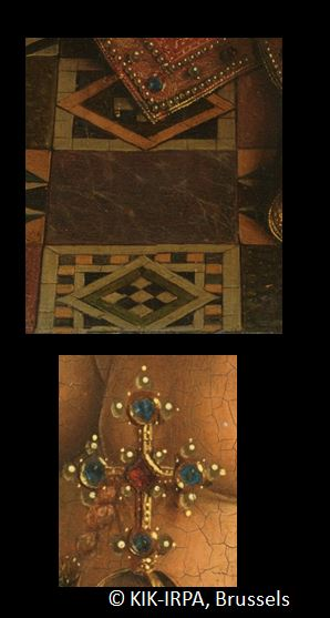 1435 Eyck_madonna_rolin carrelage motifs losange