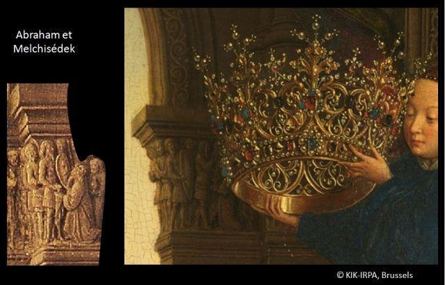 1435 Eyck_madonna_rolin chapiteau melchisedek