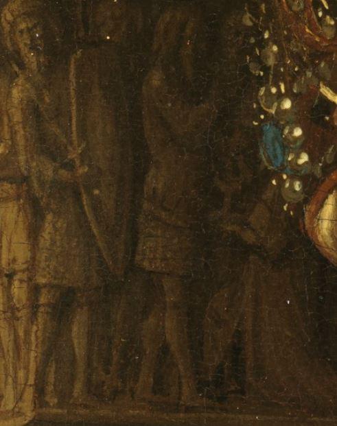1435 Eyck_madonna_rolin chapiteau melchisedek gros plan