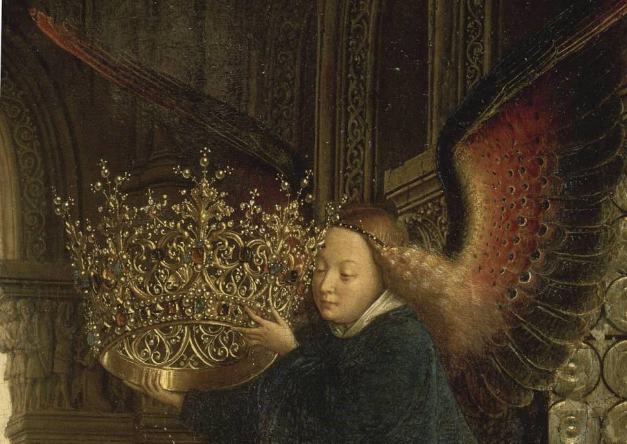 1435 Eyck_madonna_rolin detail couronne