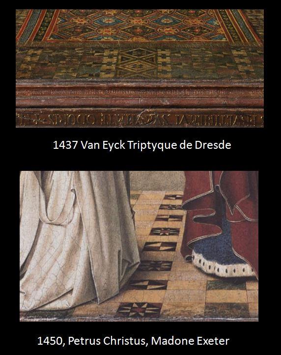 1437 Jan_van_Eyck Triptyque de Dresde detail carrelage