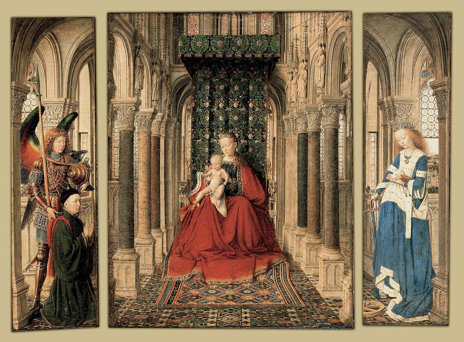 1437 Jan_van_Eyck Triptyque de Dresde