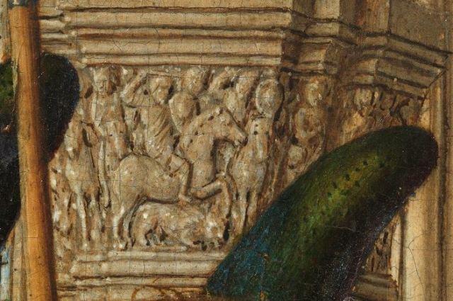 437 Jan_van_Eyck_-_Triptyque de Dreste detail chapiteau gauche