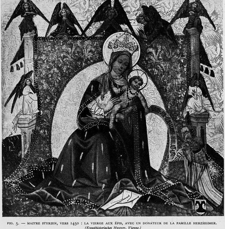 1440 ca Andre Pigler, La Vierge aux epis , Gazette des beaux-arts, t. VIII - VIe periode, juillet 1932