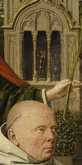 1441 Jan_van_Eyck_Madonna of Jan Vos _Frick_Collection detail Mars