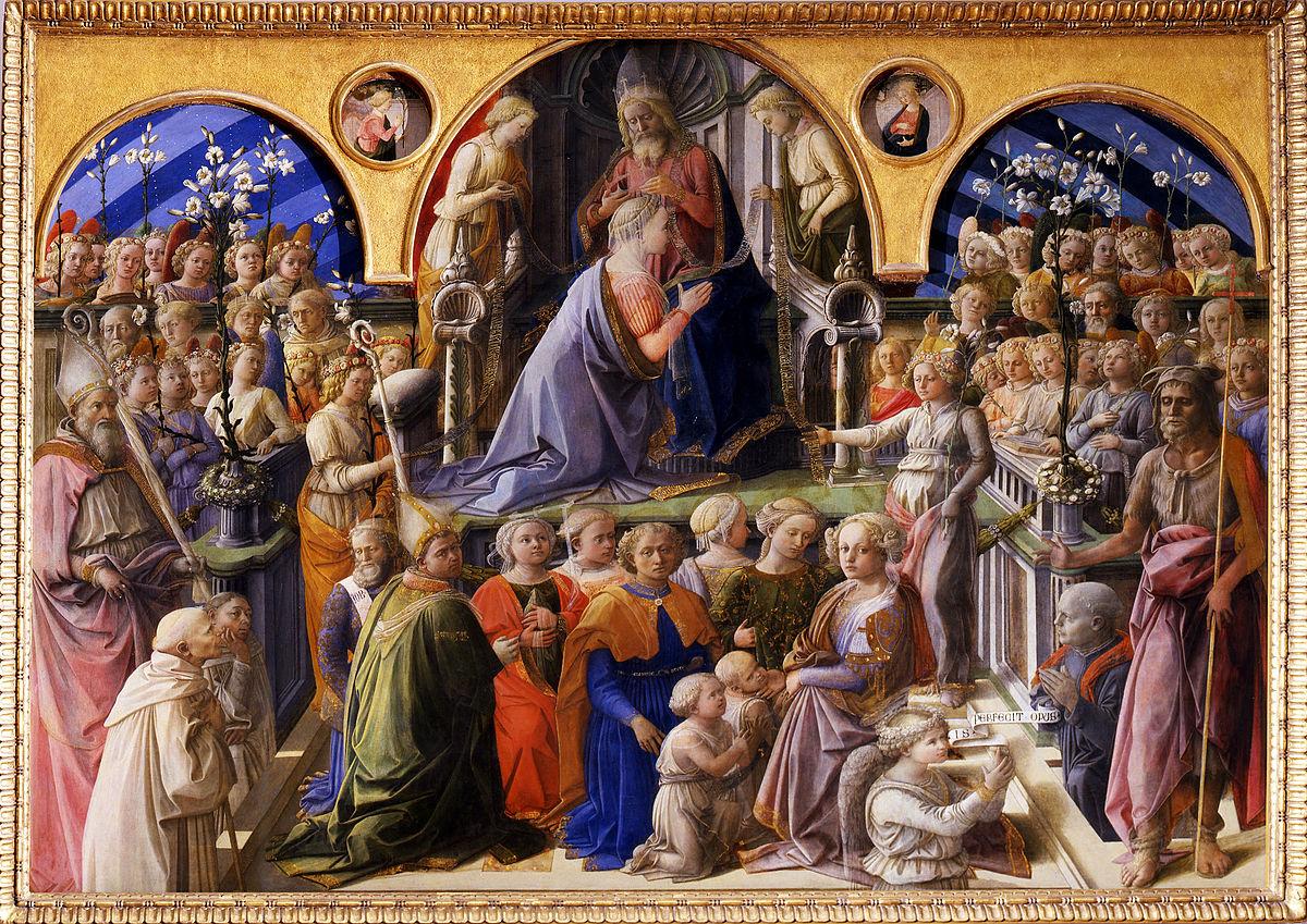 1447 Filippo_Lippi_-_Incoronazione_Maringhi Offices Florence