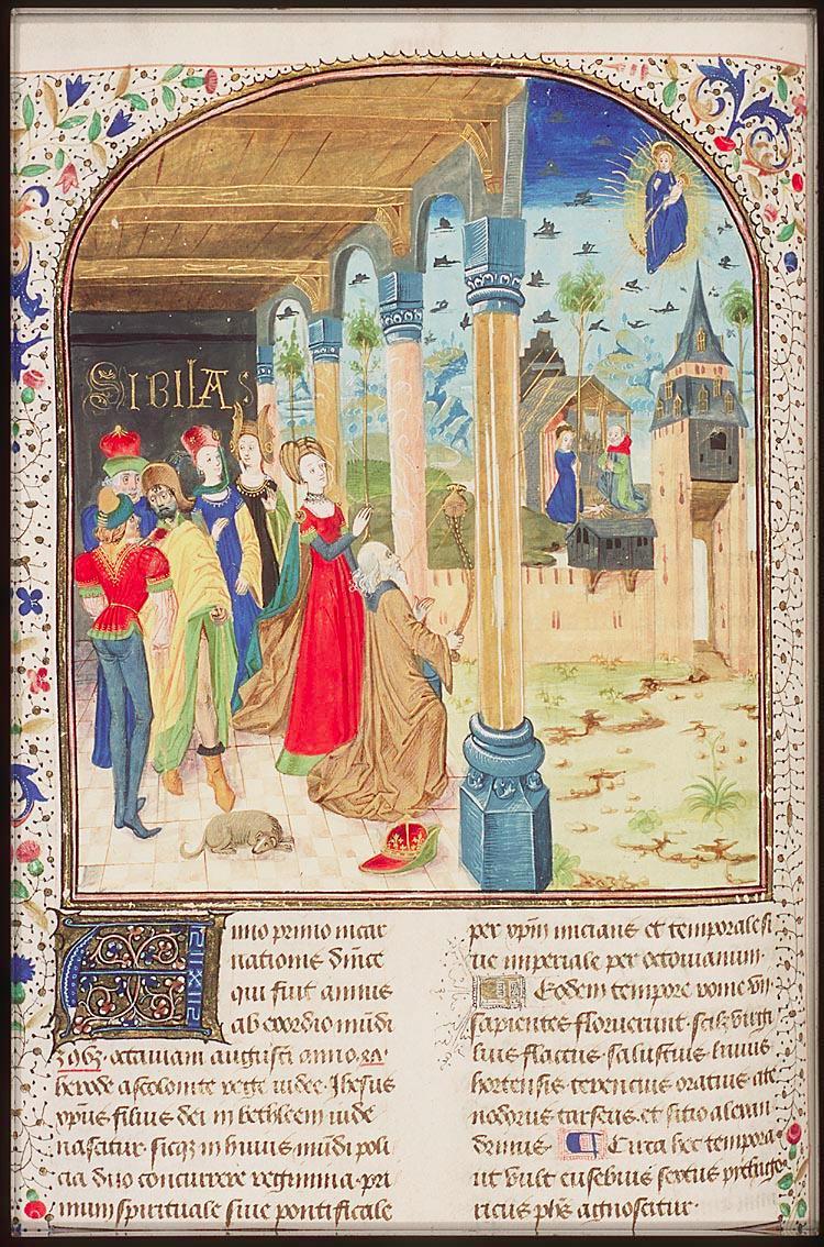 1450-60Nativity; Tiburtine sibyl National Library of the Netherlands La Hague, RMMW, 10 A 21 fol. 68v
