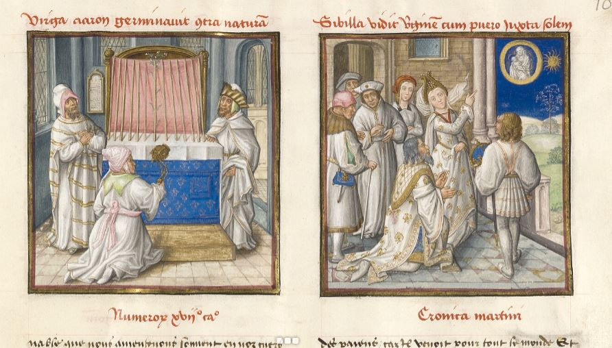 1450 ca Le Miroir de l'humaine salvation Musee Conde Ms139-folio10r