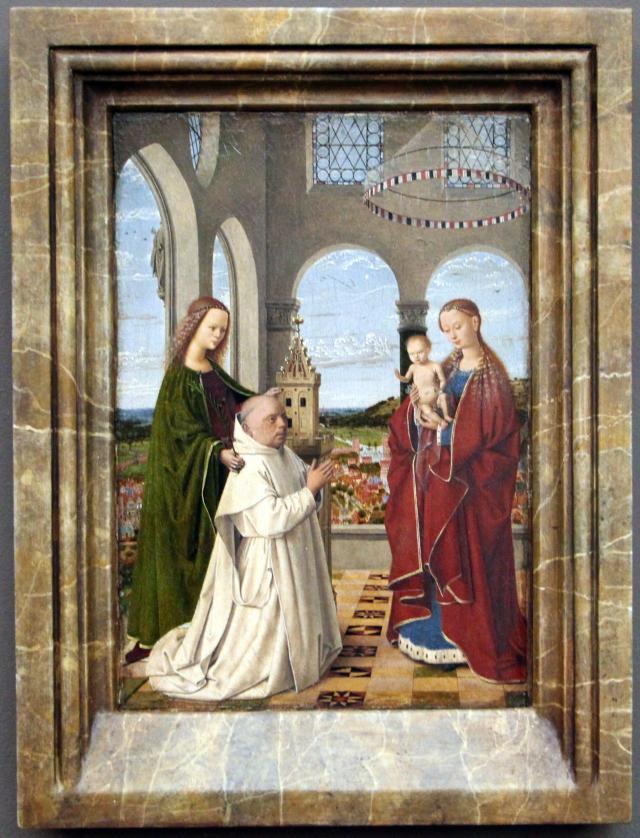 1450 ca Petrus_christus,_madonna_exeter, Gemaldegalerie Berlin