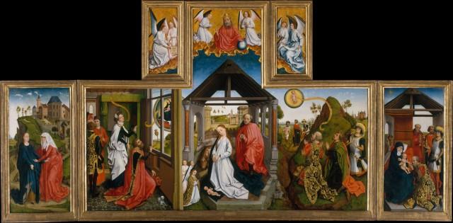 1450 ca Triptyque de la Nativite Atelier de Van der Weyden MET