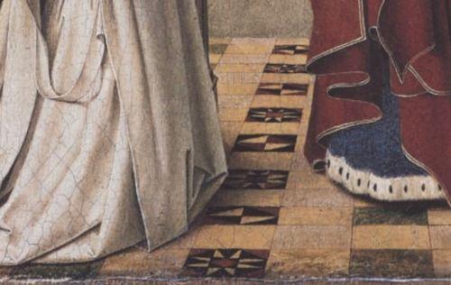 1450_ca Petrus_christus,_madonna_exeter,_. Gemaldegalerie Berlin detail sol