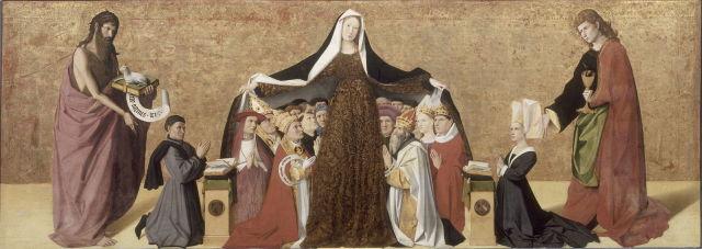 1452 Vierge_de_misericorde de la famille Cadard_Enguerrand_Quarton_-_Musee_Conde