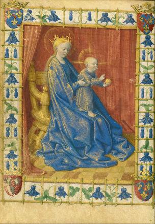 1455 Jean_Fouquet_Heures de Simon de Varye, Getty Museum Vierge