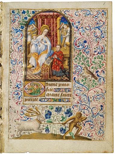 1455 Miniaturiste parisien Heures de Simon de Varye, La Haye Koninklijke Bibliotheek, Ms. 74 G 37, fol. 1r.