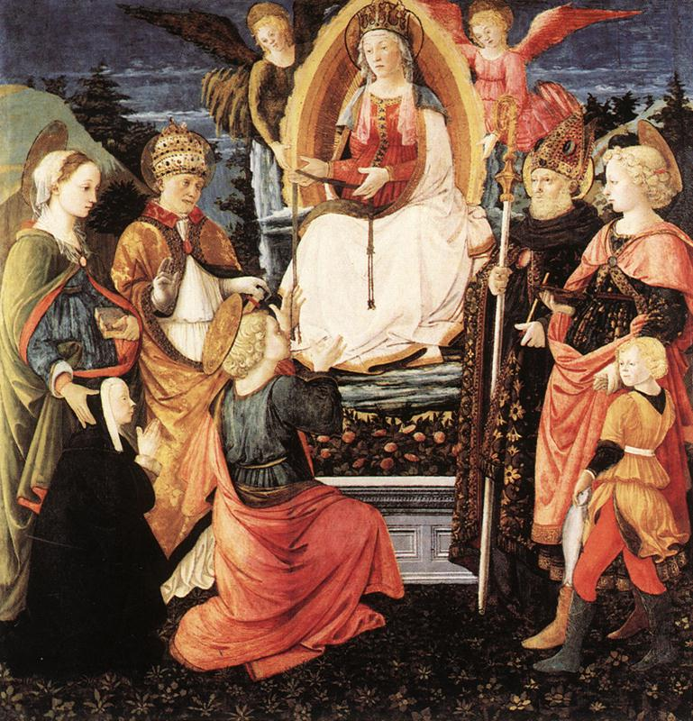 1456-60 Filippo Lippi,_madonna_della_cintola,Museo Civico prato