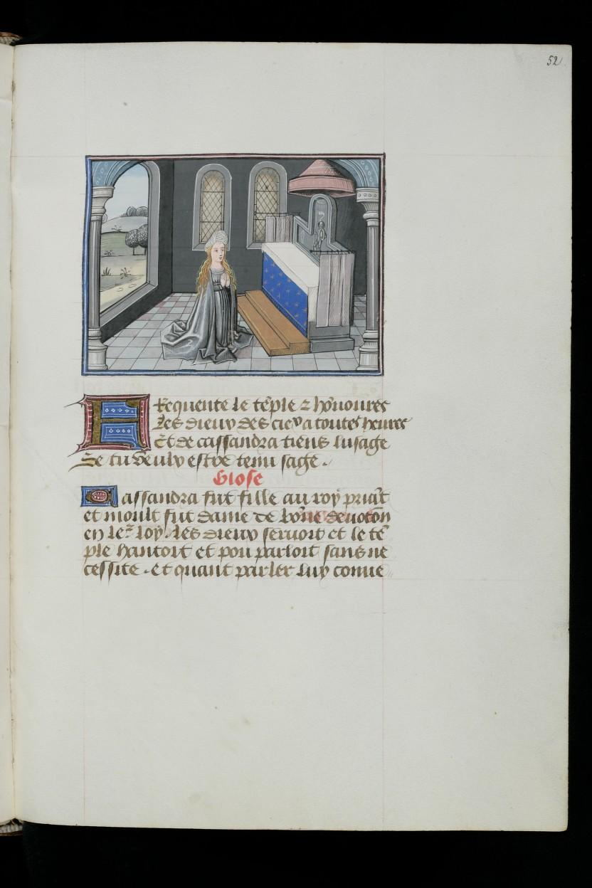 1460 ca L'Epitre Othea Christine de Pisan Cologny, Fondation Martin Bodmer, Cod. Bodmer 49, f. 52r