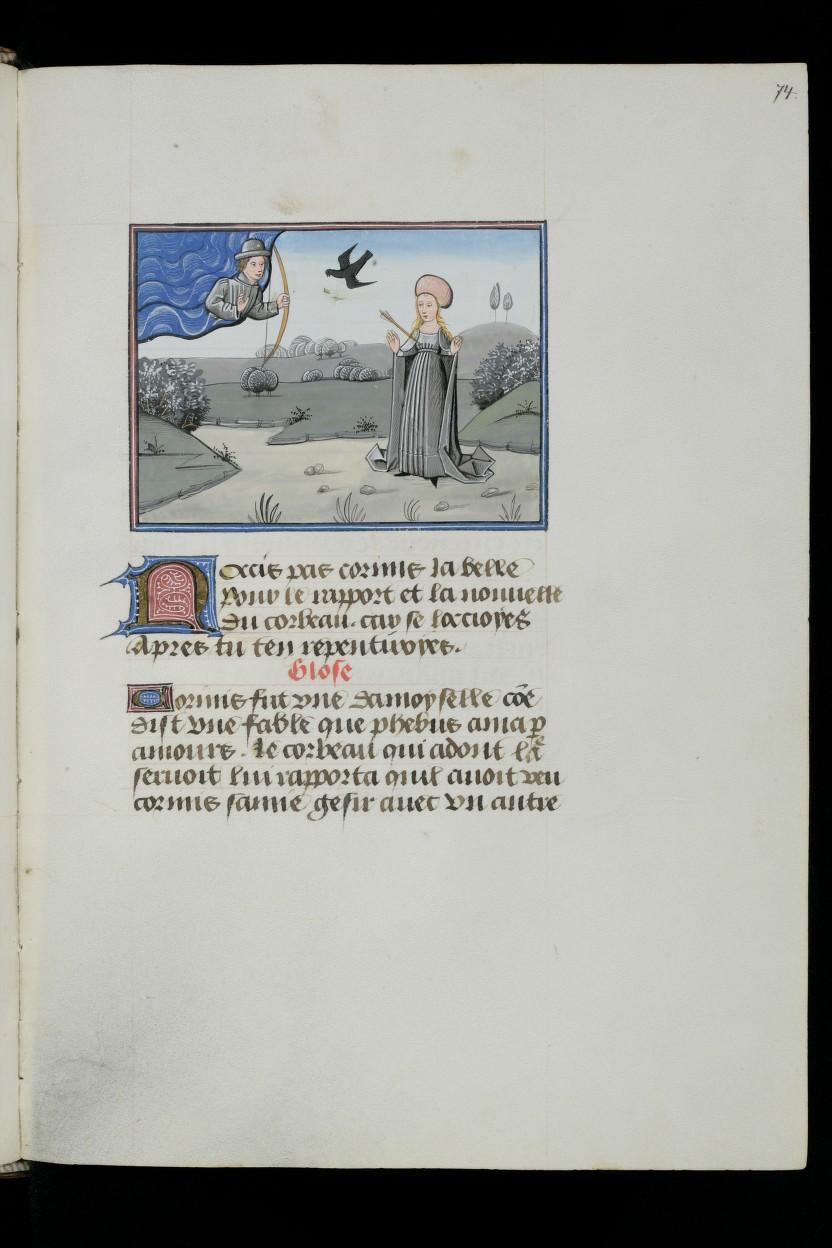 1460 ca L'Epitre Othea Christine de Pisan Cologny, Fondation Martin Bodmer, Cod. Bodmer 49, f. 74r