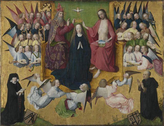 1464 Maitre_de_la_Passion_de_Lyversberg coronation Alte Pinakothek,