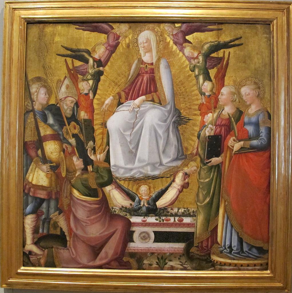 1467 Neri di Bicci - Madonna della cintola angeli e santi philadelphia-museum-of-art