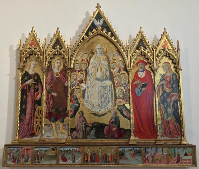 1479 Sano di Pietro Polittico dell'Assunzione della Vergine Pinacoteca Nazionale, Siena