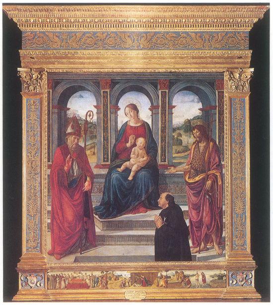 1480 ca Cosimo Rosselli Commenda di Sant'Eufrosino Church in Volpaia, Radda in Chianti, Siena