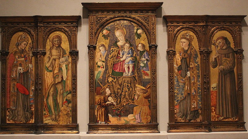 1481 Vittore Crivelli Polittico Wilstach Philadelphia Museum of Art,