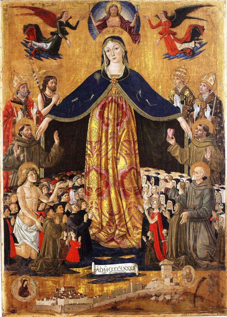 1482 Bartolomeo Caporali , Musee de Montone, provenant de l'église San Francesco del borgo