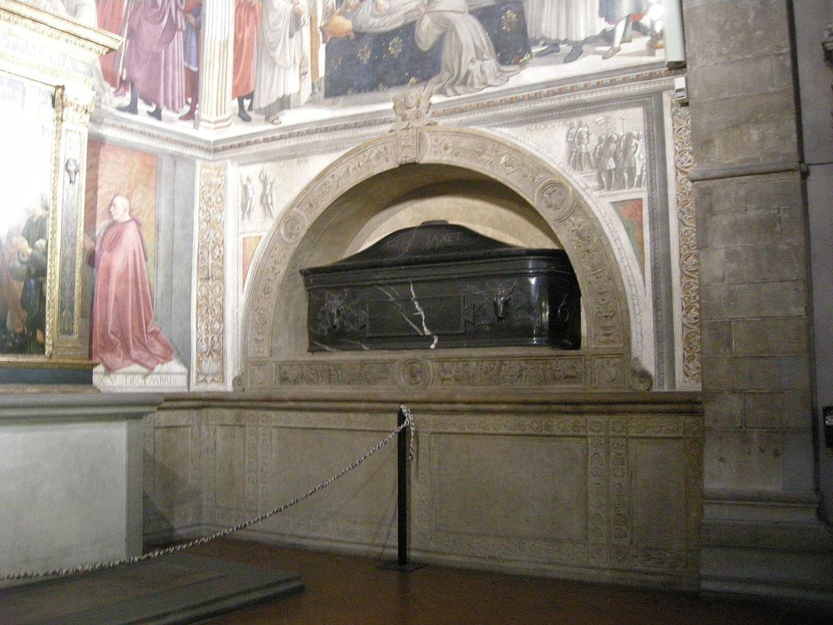 1485 cappella Sassetti tombe Francesco Sassetti basilica di Santa Trinita Firenze