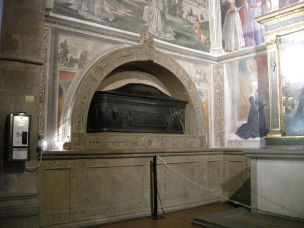 1485 cappella Sassetti tombe Nera Corsi basilica di Santa Trinita Firenze