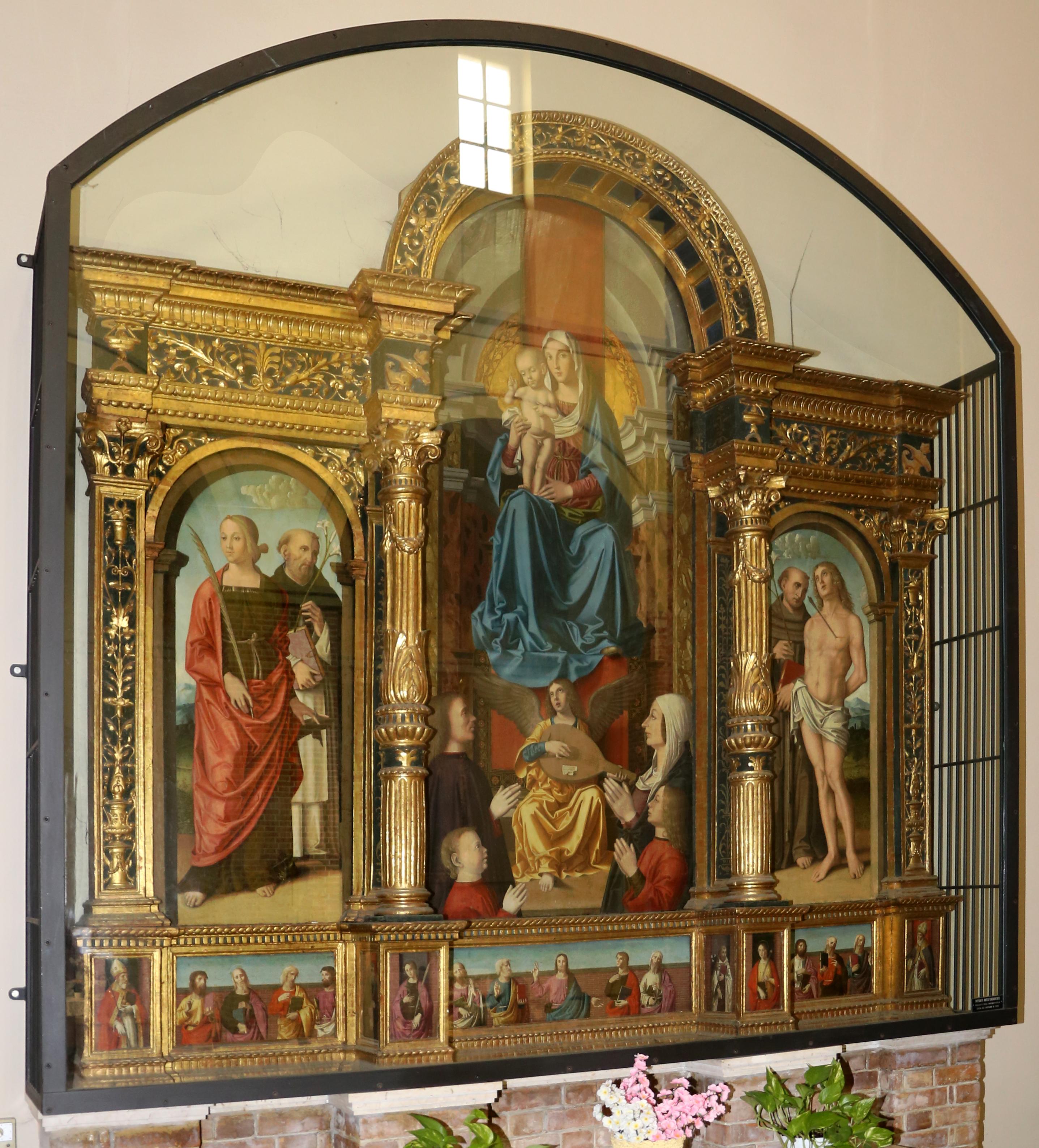 1486 Marco_palmezzano,_trittico famiglia Accorzi Chiesa di San Biagio (Forlì)