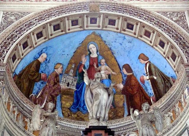 1490-95 Bergognone Jean Galeas Visconti et ses trois fils presentent al chartreuse de Pavie a la Madonne