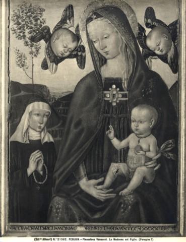 1492 Anonimo umbro sec. XV, Madonna con Bambino e monaca donatrice della famiglia Perigli Galleria Nazionale dell'Umbria, Perugia