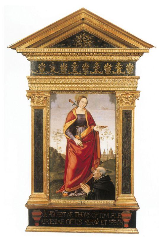 1494_davide_ghirlandaio,_s._lucia_e_committente Santa Maria Novella