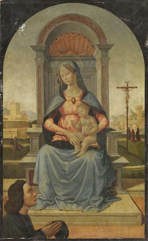 1495-1505 Bartolomeo_di_Giovanni_(Umkreis)_-_Maria_mit_Kind Alte Pinakothek Munchen
