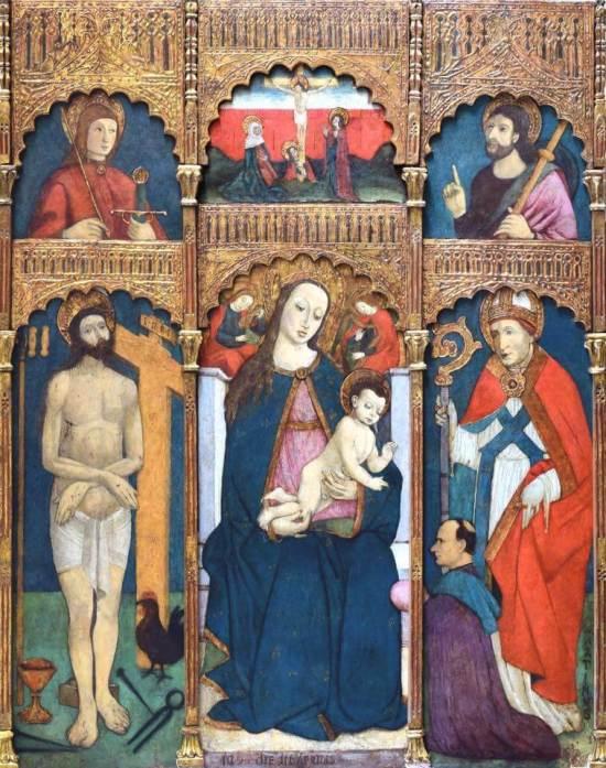 1498 Boxilio polyptyque avec St Martin et un donateur Carbonara Scrivia (Alessandria),chiesa parrocchiale di San Martino