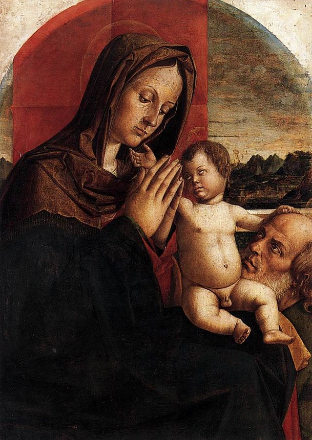 1500-10 Bartolomeo_Montagna_-_Madonna_and_Child_with_St_Joseph_Musee Correr jpg